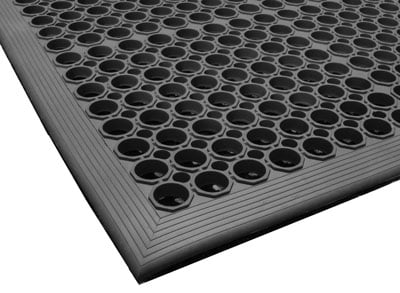 Close up of Comfort Mate Exterior Scraper Entrance mat