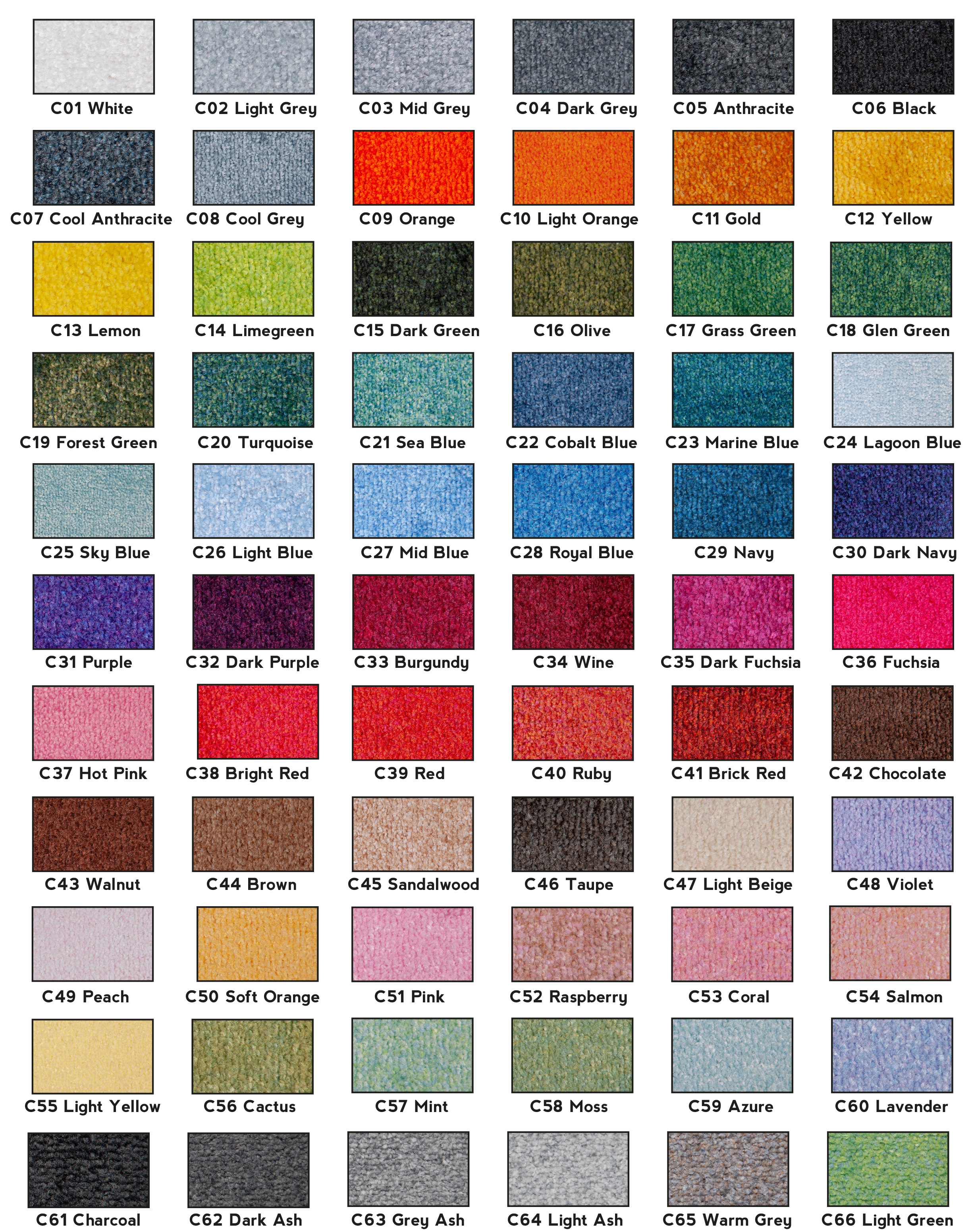 Heavy Duty Logo Mat Colours