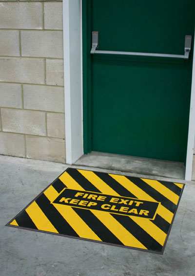 Fire Exit Message Mats