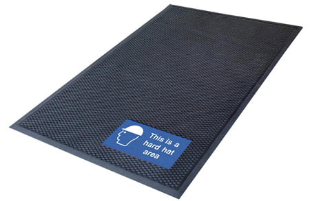 Signage mat for warehouse