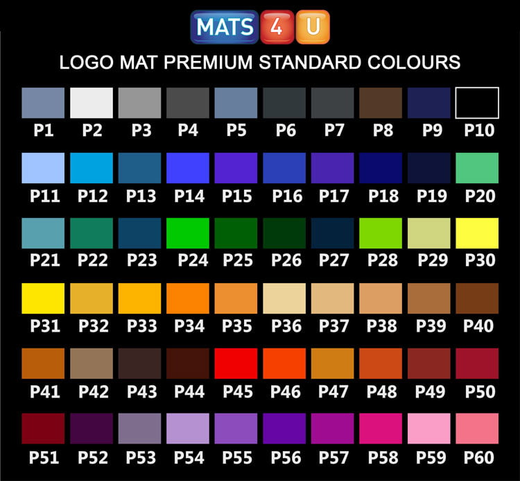 Logo Mat Premium Colours