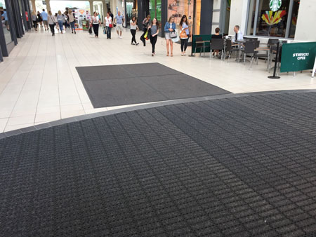 Entrance Mat used in shopping centre