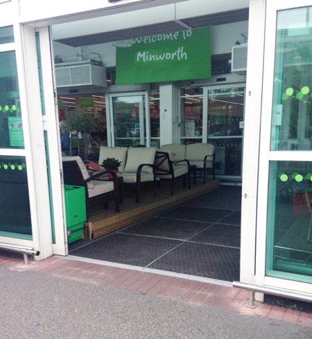 Mat for shops entrance