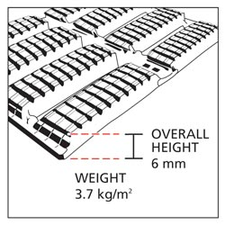 Floorline mat cross section