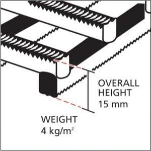 Herongripa mat cross section